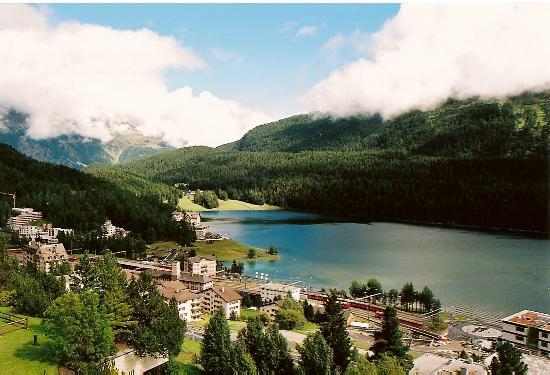 St. Moritz, Schweiz: view from our room
