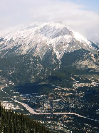 Банф, Канада: A view of Banff from the top of the Gondola