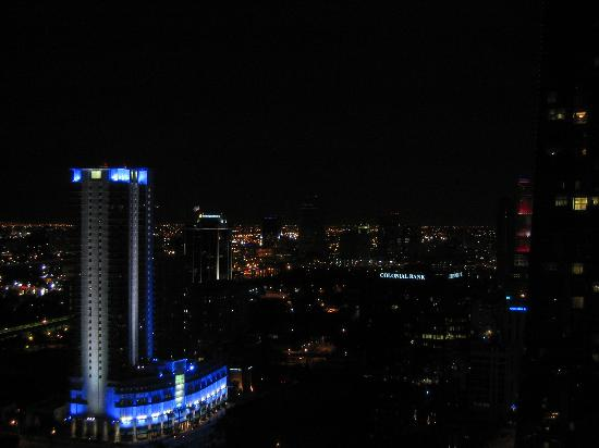 Four Seasons Hotel Miami : View of Brickell area at night from condo-hotel room 