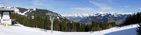 Kaprun, Austria: View from above Zell am See