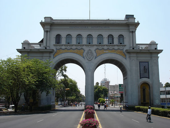 Los Arcos. Old entrance to the city.Guadalajara