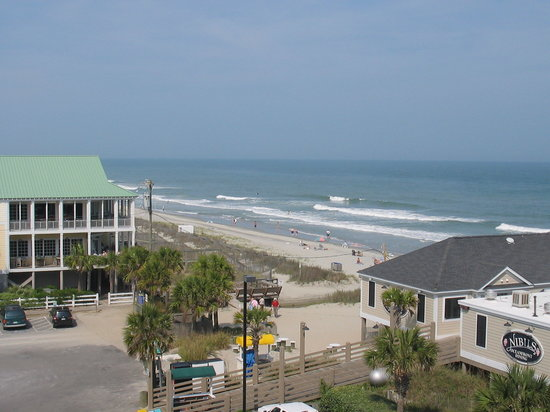 Surfside Beach, Carolina Selatan: view from balcony