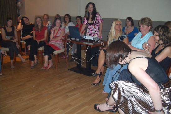The Strand Hotel : A stressed bridesmaid giving her powerpoint in the beautiful function room