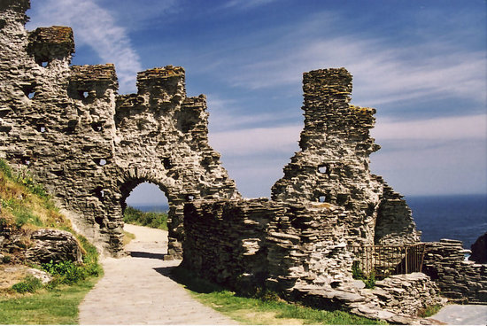 Tintagel Castle Wall