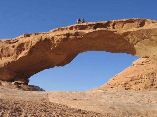 Petra / Wadi Musa, Jordan: The top of the arch at the Wadi Rum