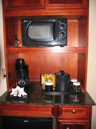 Hilton Garden Inn Lafayette/Cajundome: Love the mini-fridge/microwave combo for drink storage or heating oatmeal!