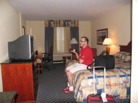 Hilton Garden Inn Lafayette/Cajundome: That's my husband -- he doesn't come with the room!