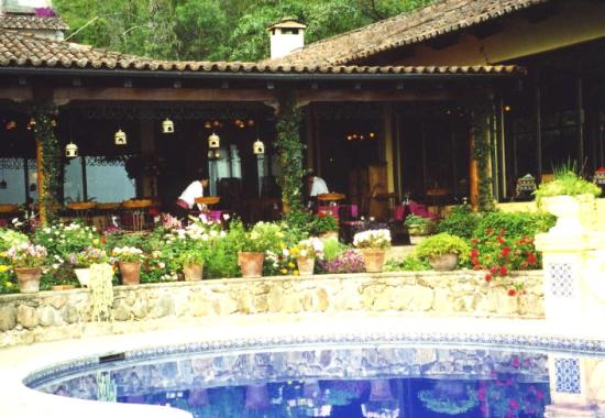 Hotel Atitlan: The Restaurant's Terrace By the Pool