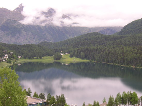 St. Moritz, Schweiz: view from hotel room