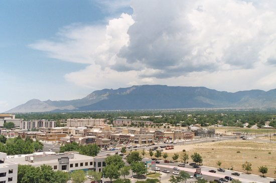 Albuquerque, NM: View of the Sandias from a Mountain View Room