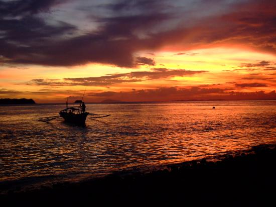 Mabini, : Sunset @ Balai