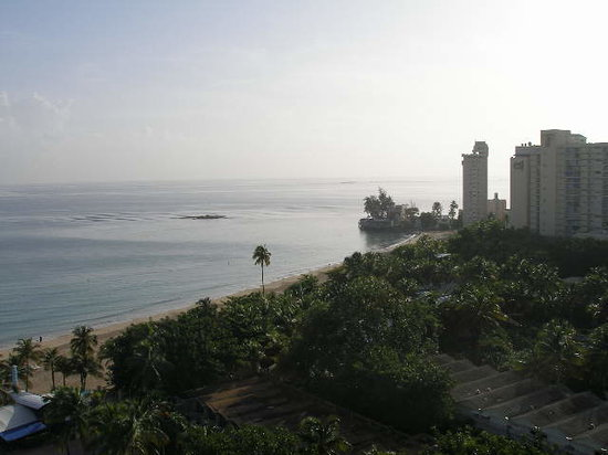 Isla Verde, Puerto Rico: view from our window/balcony