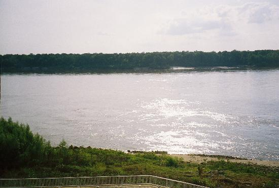 Vicksburg, Mississippi: View of Mississippi River from balcony of room.