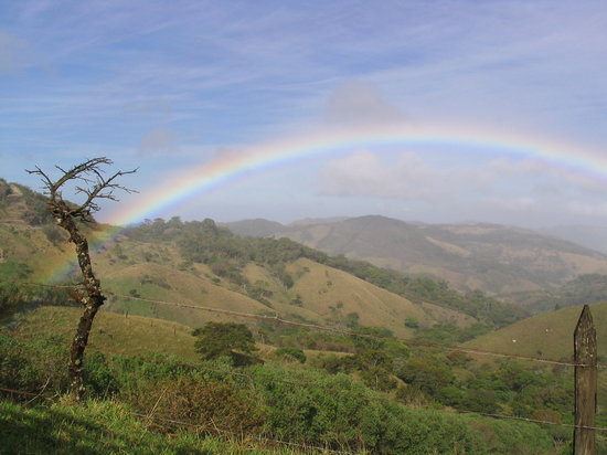Monteverde Cloud Forest Reserve, Costa Rica: Rainbow view