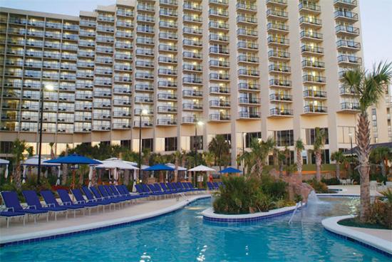 Hilton Myrtle Beach Resort: picture of the resort from the south pool