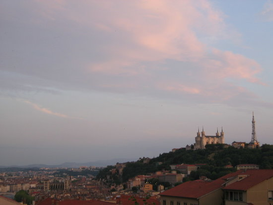 Lyon, France: View of Fourviere from Croix Russe