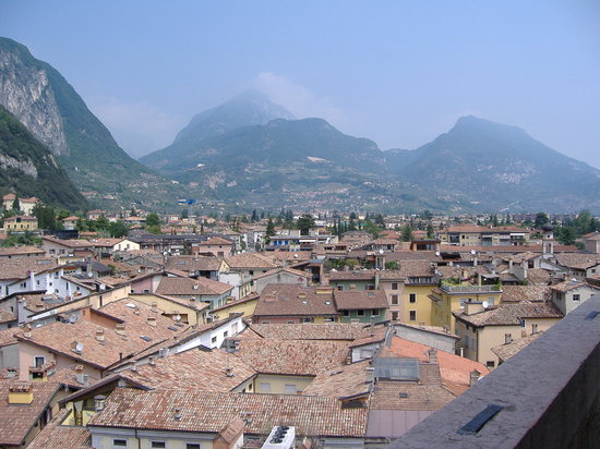 Riva Del Garda, Italy: Rooftops from Torre Apponale, Riva, Lake Garda