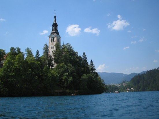 Bled, Slovenia: the church
