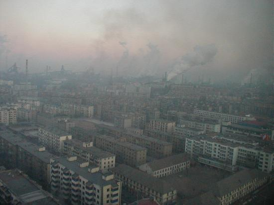 View of industrial Anshan from the Wuhaun