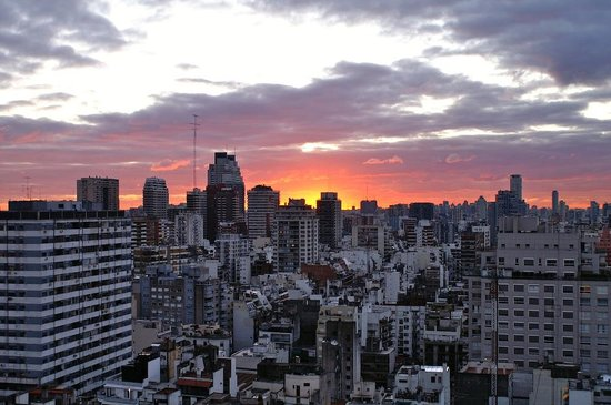 Buenos Aires, Argentine : Sunset in Recoleta 