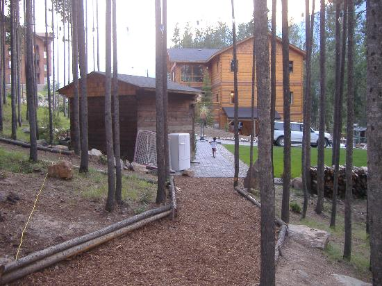 Earl Grey Lodge: gardens and fire pit
