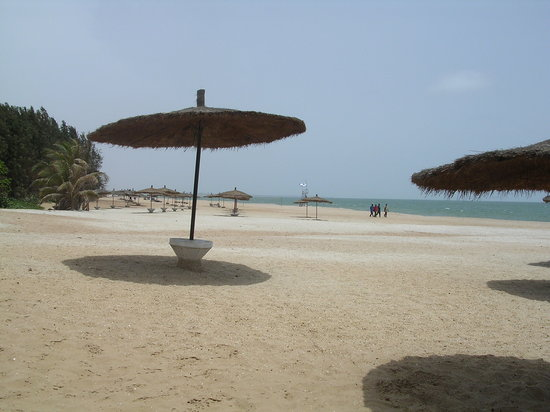 Kololi, Gambia: the beach at bottom of hotel grounds