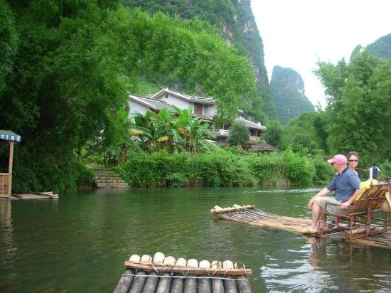 Yangshuo Mountain Retreat: River in front of Yangshuo Mtn Retreat