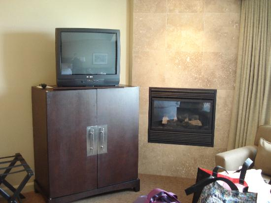 Westin Trillium House Blue Mountain: TV with DVD players and fireplace