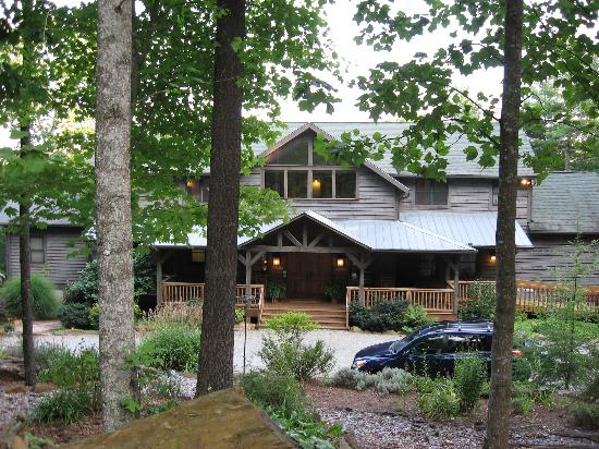 Bent Creek Lodge through the trees