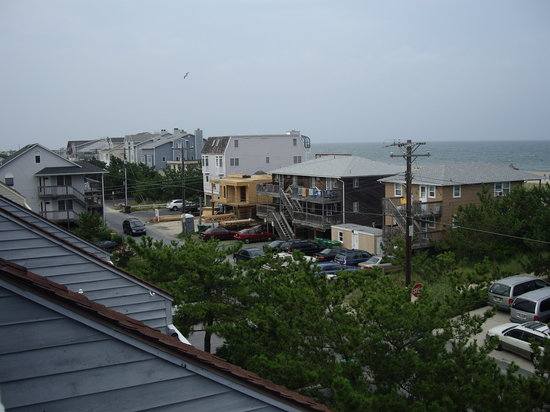 Fenwick Island, : View of the beach from our rental at the Coin Beach Condos