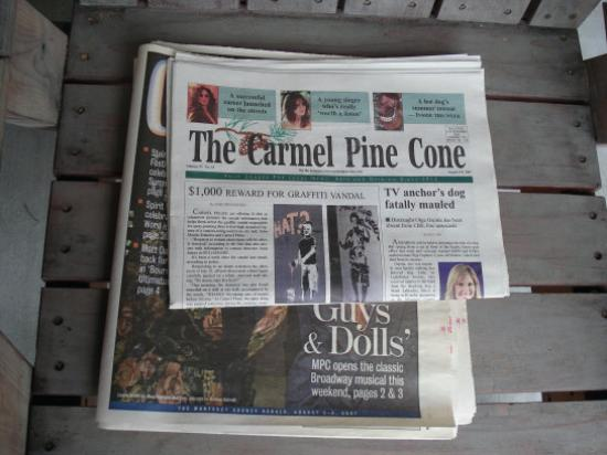 Carmel Lodge: newspapers , fruits and coffe