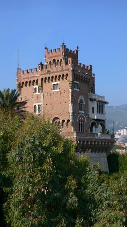 Genoa, Italy: a neo-gothic castle