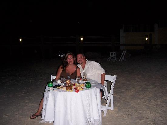 Our Candlelight Dinner On The Beach Picture Of Sandals Royal Bahamian Spa Resort Offshore
