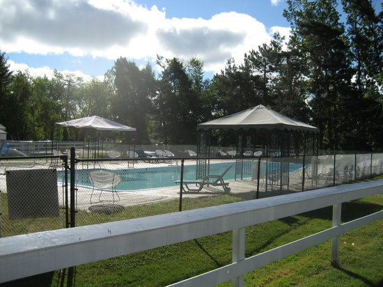 , : Outdoor pool!