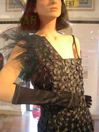 Uzès, France : Dress made from  liquorice