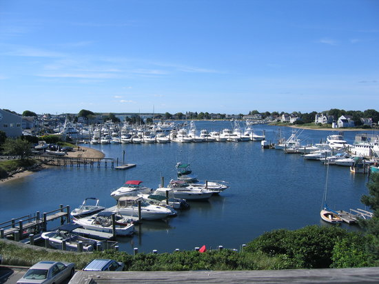 Hyannis, MA : View From Balcony To Harbour