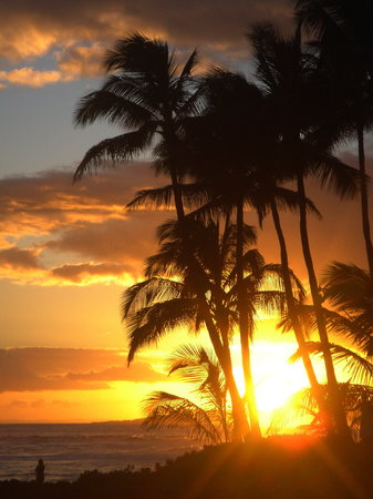 ปัวปู, ฮาวาย: Po'ipu sunset from the Sheraton Resort bar