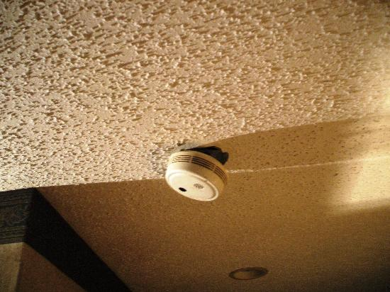 Super 8 Milford/New Haven: Watch out for falling smoke alarms