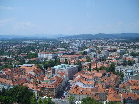Ljubljana, Slovenien: View from castle