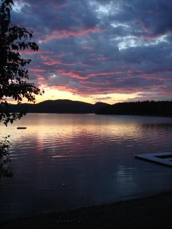 Lodge at Whitefish Lake: View of the sunset from our condo...