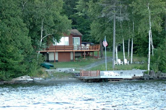 Cozy Moose on Moosehead Lake: View of The Cozy Moose from the lake.