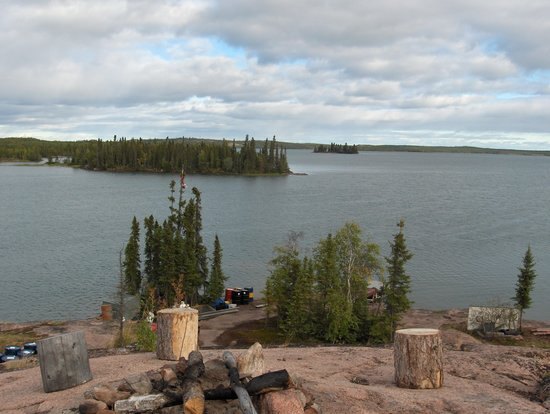 Blachford Lake Lodge: the view from the hot tub