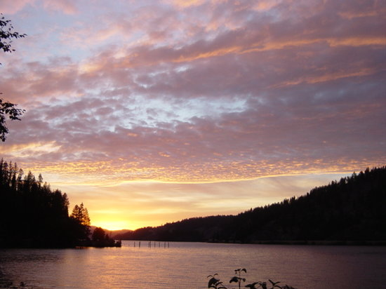 Sunset on Coeur d'Alene Lake