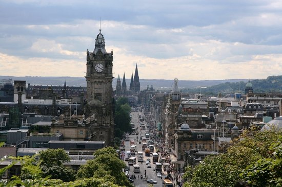 Edinburgh, UK: View from Carlton Hill