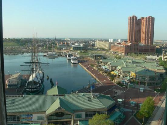 Renaissance Harborplace Hotel: view from the 12th floor