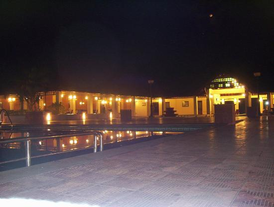 Whispering Palms Resort: Resort at night