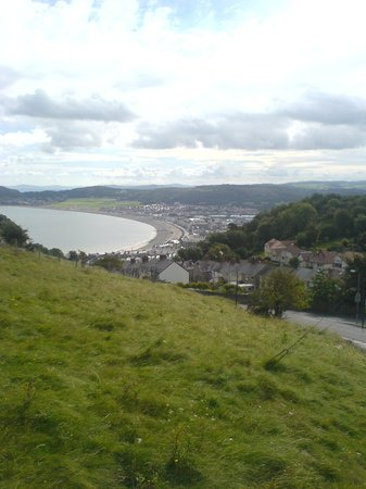 Llandudno, UK : view from Great Orme Tram