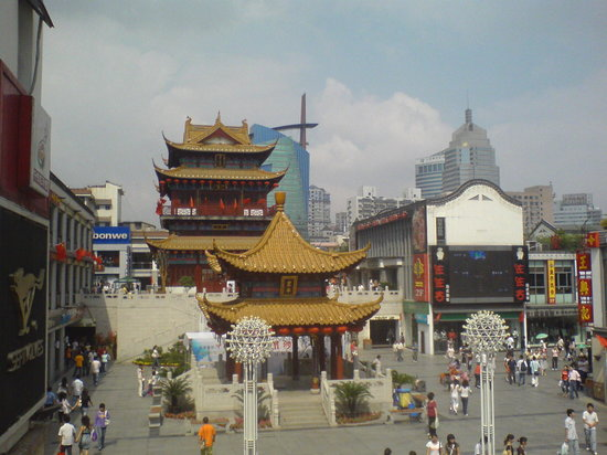 Wuxi, Chine : city centre shopping 