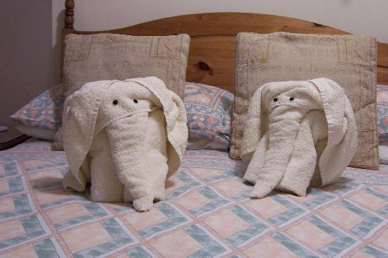 Felixstowe, UK : Elephants at Norfolk guest-house 