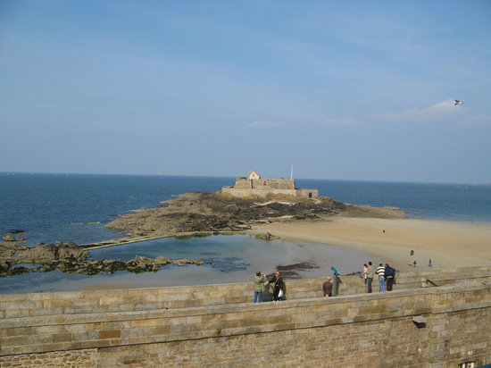 Saint-Malo, France: view from room at low tide